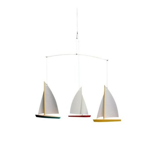 Mobile Dinghy Regate 5 (en bois et papier) - Flensted Mobiles