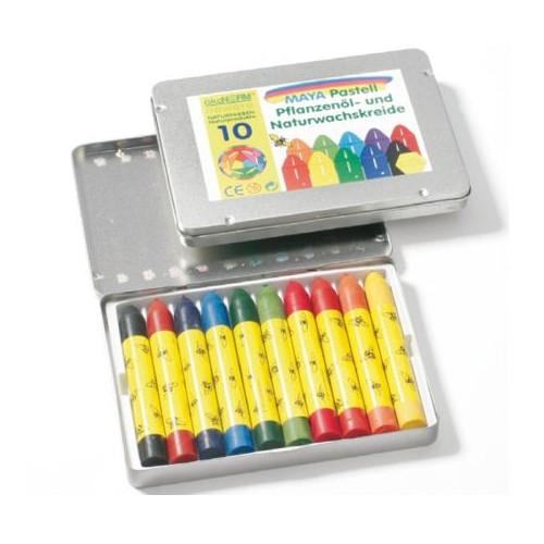 Pastels à l'huile, 10 crayons - Ökonorm