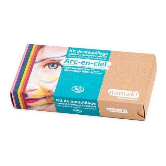 Kit de maquillage bio 8 couleurs - Namaki