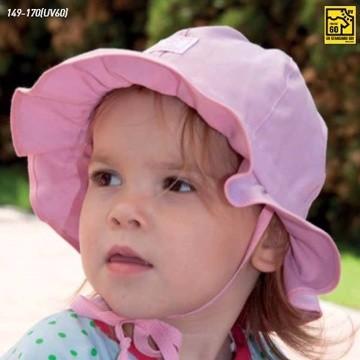 Chapeau bébé en coton biologique anti-UV uni- Pickapooh