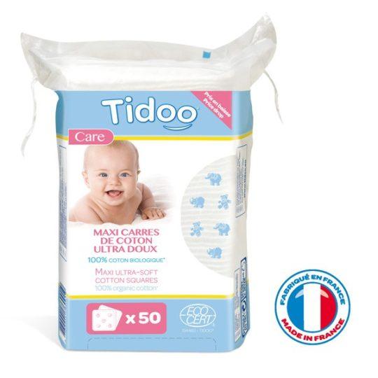 50 Maxi carrés de coton bio - Tidoo