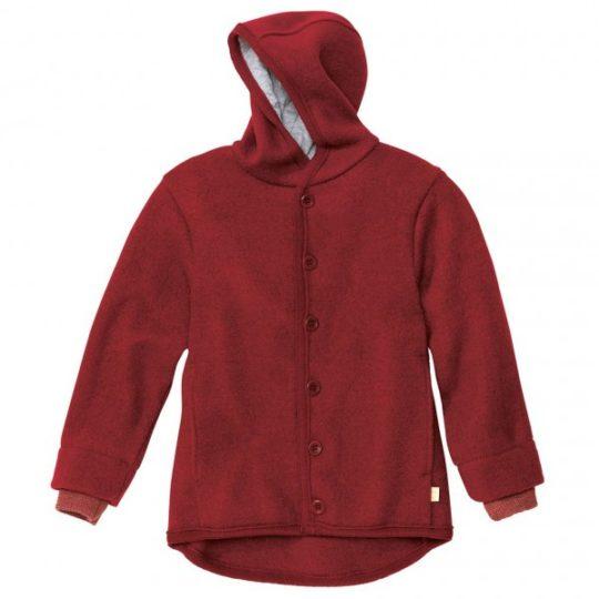 Veste à capuche en laine bouillie - 98/104 cm - Disana