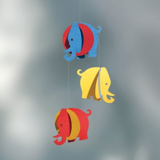 Mobile Eléphants - 25 cm - Livingly
