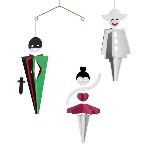 "Mobile ""Harlequin, Columbine & Pierrot"" - 34 cm - Livingly"