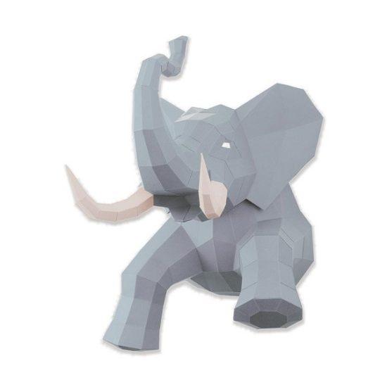 Éléphant en papier 3D 6 Agent Paper