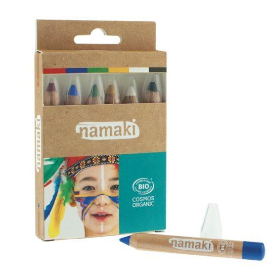 Kit 6 crayons de maquillage Arc-en-Ciel - Namaki