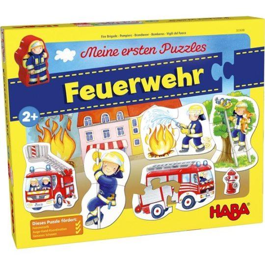 Mes premiers puzzles 2, 3 et 4 pièces Pompiers - Haba
