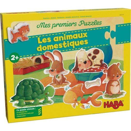 Mes premiers puzzles 2, 3 et 4 pièces Animaux domestiques - Haba