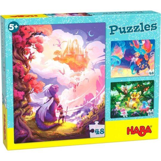 Puzzles 48 pièces Au pays fantastique - Haba