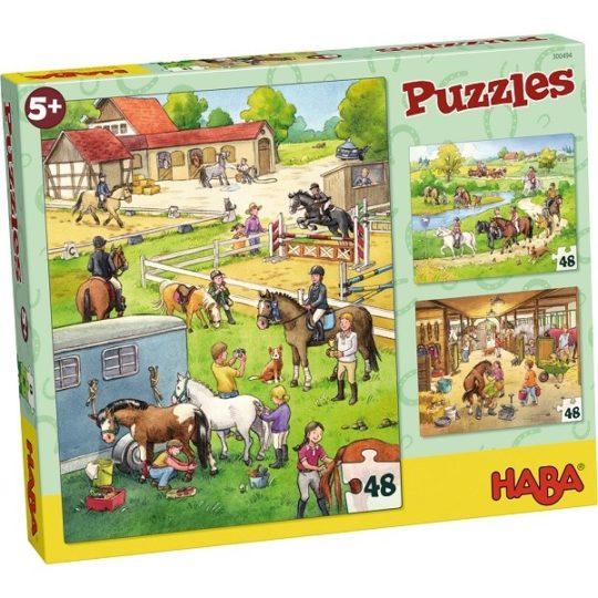 Puzzles 48 pièces Le centre équestre - Haba