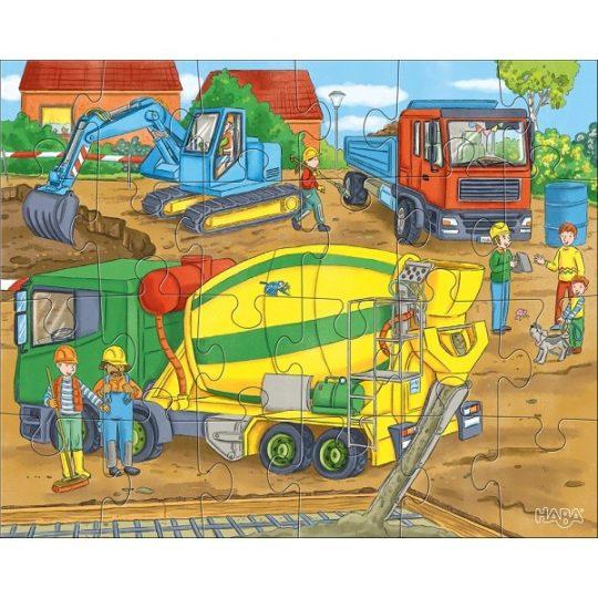 3 puzzles de 24 pièces Le chantier - Haba