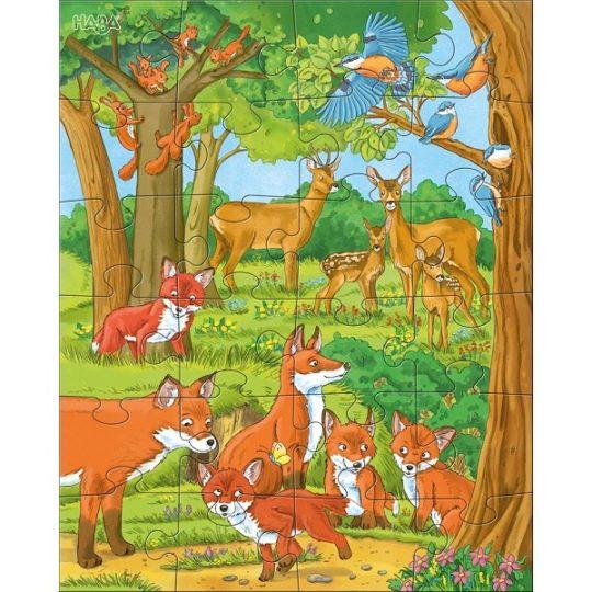 3 puzzles de 24 pièces Familles d'animaux - Haba