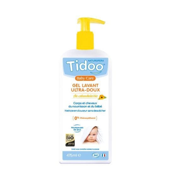 Gel lavant ultra-doux au calendula bio 475ml - Tidoo