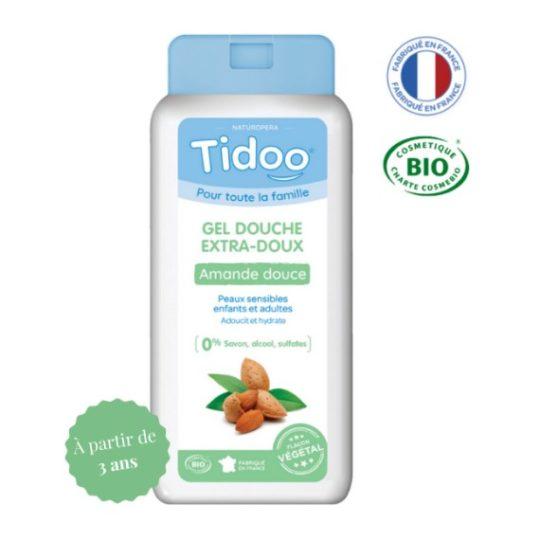Gel douche extra-doux amande douce bio 750mL - Tidoo
