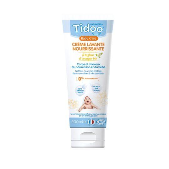 Crème lavante nourrissante bio 200ml - Tidoo