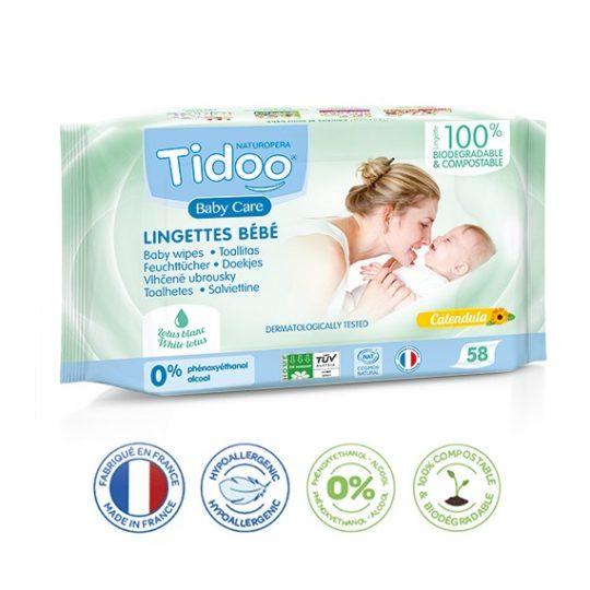 Lingettes compostables - Tidoo