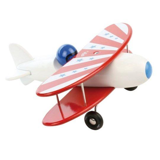 Avion bi-plan en bois - Vilac