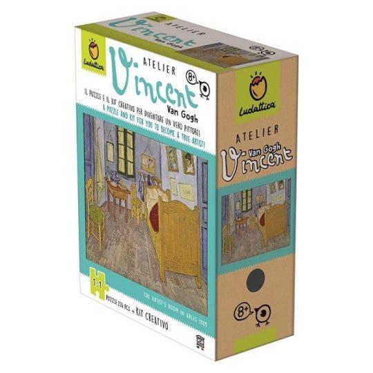 Atelier Van Gogh puzzle de 224 pièces et activité créative - Ludattica