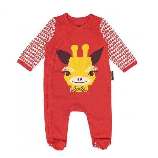 Pyjama + bonnet en coton bio Girafe 3/6 mois - Coq en pâte