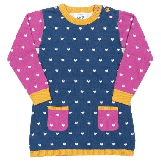 . Robe avec cœurs 3-6 mois - Kite kids