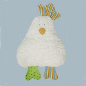Doudou hochet poule multicolore Efie