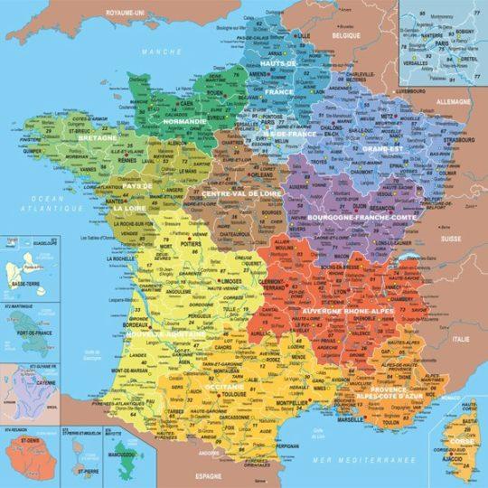 Puzzle en bois Carte de France départements - Michèle Wilson