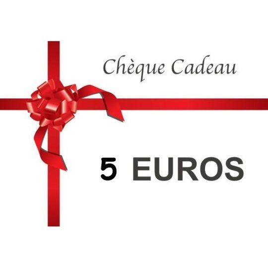Chèque cadeau de 5 €