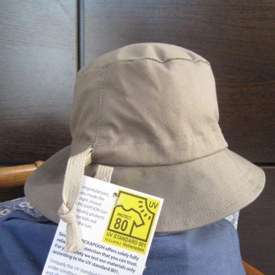 Chapeau en coton biologique anti-UV uni rouge - Pickapooh