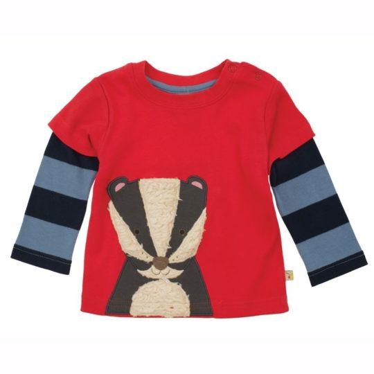 Ensemble Pantalon + T-shirt blaireau - Frugi